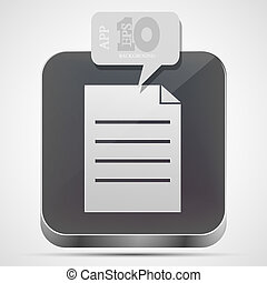 gråne, eps10, app, vektor, fil, ikon, boble, speech.