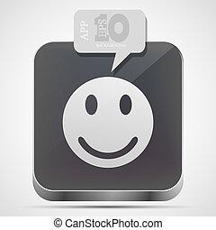 gråne, eps10, app, zeseed, vektor, ikon, boble, speech.