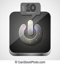 gråne, spill, eps10, app, vektor, ikon, boble, speech.