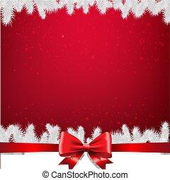 grænse, firtree, card christmas