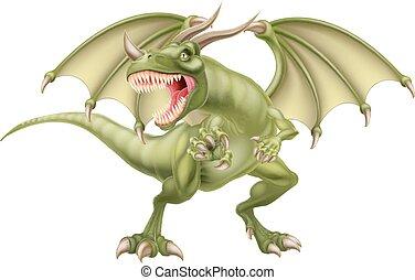 grøn drage