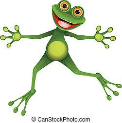 grøn frø, glade