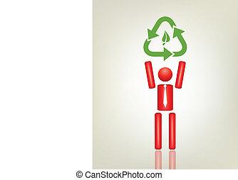 grønne, begreb, økologi, menneske