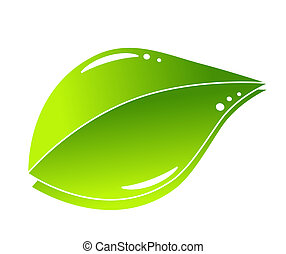 grønne, begreb, blad, natur
