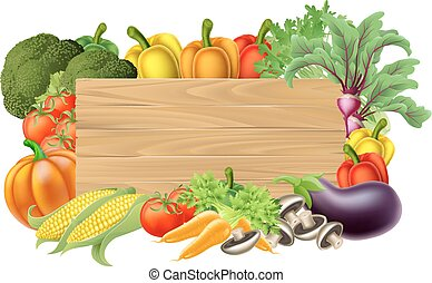 grønsag, frisk, tegn