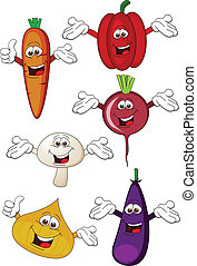 grønsag, karakter, cartoon