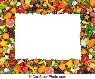 grønsag, ramme, frugt