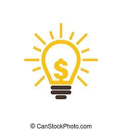 grafik, dollar, ide, illustration, konstruktion, skabelon, ikon