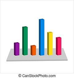graph, 3, konstruktion, bar