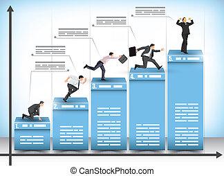 graph, bar, firma, konkurrence