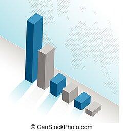 graph, branche illustration, konstruktion
