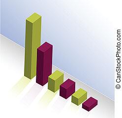 graph, farverig, illustration, konstruktion