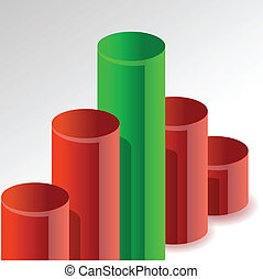 graph, konstruktion, højdepunkt, illustration