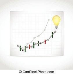 graph, konstruktion, ide, illustration