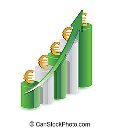 graph, konstruktion, illustration, euro