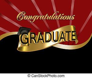 gratulationer, grafik, graduere