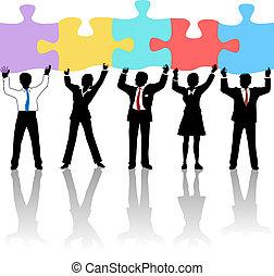 greb, branche folk, opgave, hold, løsning