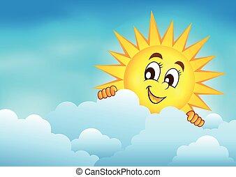 grumset, 3, himmel, sol, lurking