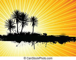 grunge, håndflade træ, baggrund