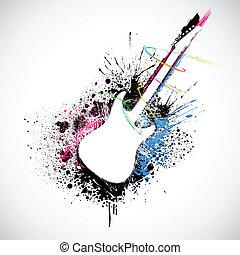 grungy, guitar