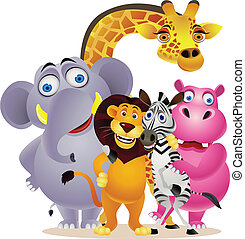 gruppe, dyr