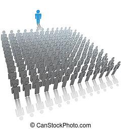 gruppe, folk, store, audience, taler, snakker, leder