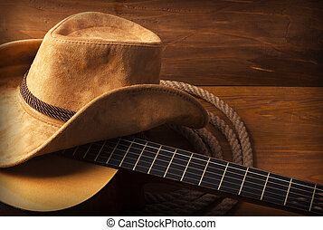 guitar, musik land, baggrund
