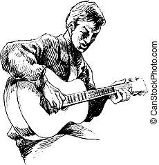 guitarist, unge