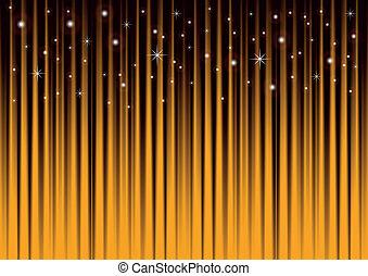 guld, baggrund, stjerner, stribet