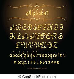 gylden, alfabet