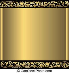 gylden baggrund, abstrakt, (vector)