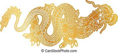 gylden, dragon., hinese