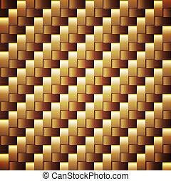 gylden, firkantet, seamless, vektor, webbed, texture.