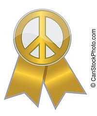 gylden, fred, bånd