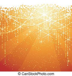 gylden, great, occasions., stjerner, festlige, gnistr, år, baggrund., baggrund, neaw, eller, rød, jul