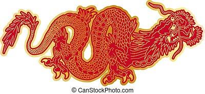 gylden, kinesisk drage