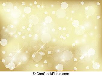 gylden, klar, prik, baggrund