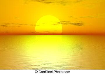gylden, solopgang