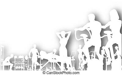 gymnastiksal, cutout