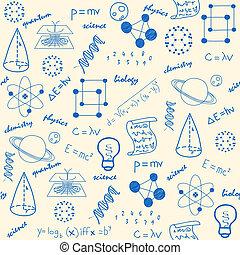 hånd, stram, videnskab, seamless, iconerne