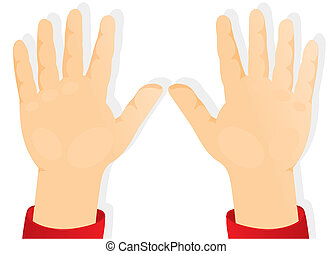 hænder, børns, frem, håndflader