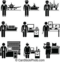 høj, professionel, arbejde, indtægt