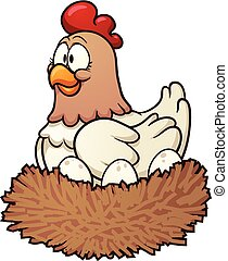 høne, cartoon