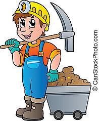 hakke, minearbejder, cart