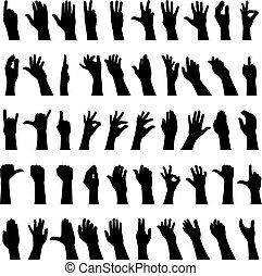 halvtreds, hænder