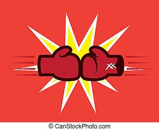 handsker, finder, boksning