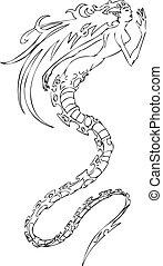 havfrue, illustration