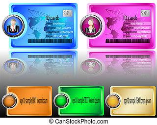 header, identifikation card