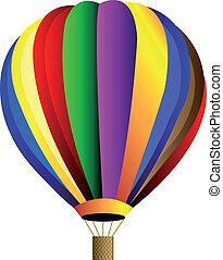 hede, vektor, balloon, luft