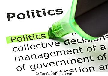 highlighted, 'politics', grønne